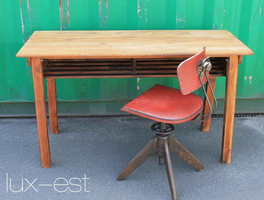 Potsdam schreib tisch sekret r antik industrie lux est for Tisch vollholz design